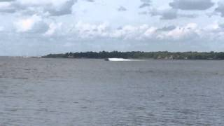 Pure Platinum 388 Skater Powerboats catamaran testing in Jacksonville in early April.