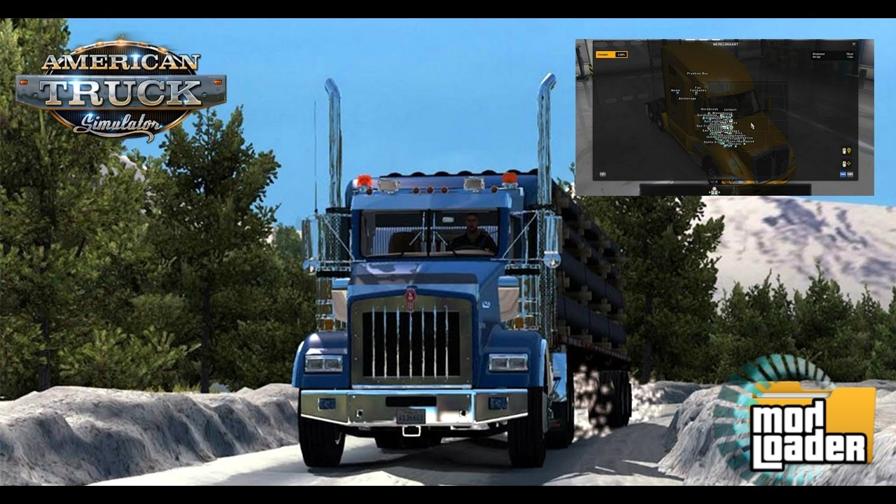 Download MODs American Truck Simulator USA Offroad Alaska Map V - Alaska map usa