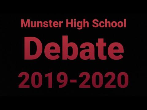 Munster High School Debate 2019-2020