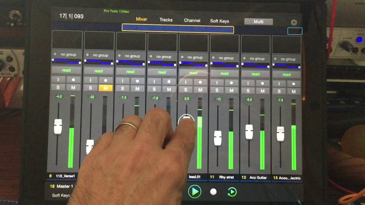 iPad Pro 12 9 and Pro Tools Control software for iOS