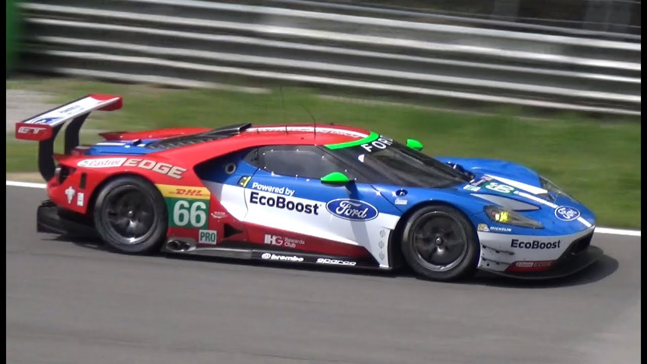Ford Gt Lm Gte H Le Mans Car Twin Turbo V Sound Monza Circuit
