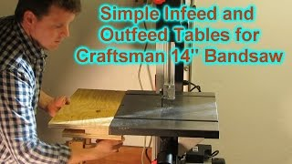 "Craftsman 14"" Bandsaw Infeed Table Update"