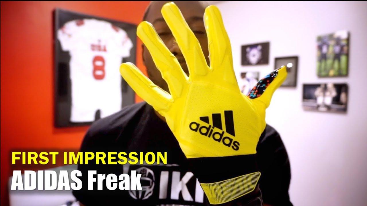 25fb83d69367 ADIDAS Freak (AAG) Football Gloves: 1st Impression - YouTube