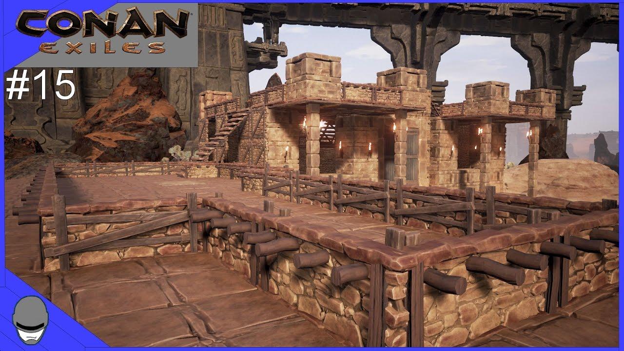Conan Exiles Roof Top Patio Ep15 Youtube