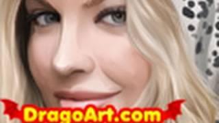 How to Draw Fergie, Fergie, Black Eyed Peas, Step by Step