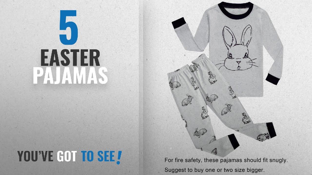 Top 10 Easter Pajamas  2018   Choco Moon Big Boys Girls Rabbit ... 8c338aaba