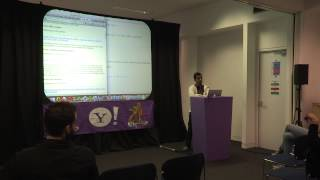 Yahoo! Hack Europe: London - BOSS Demo - Rahul Hampole, Yahoo!