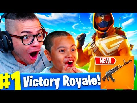 *NEW* HEAVY AR IS OVERPOWERED!!! *SO MUCH DAMAGE* FORTNITE BATTLE ROYALE 10 YEAR OLD KID! STARTER PK