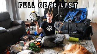 Full Gear List for a Spring Weeklong Wilderness Canoe Adventure