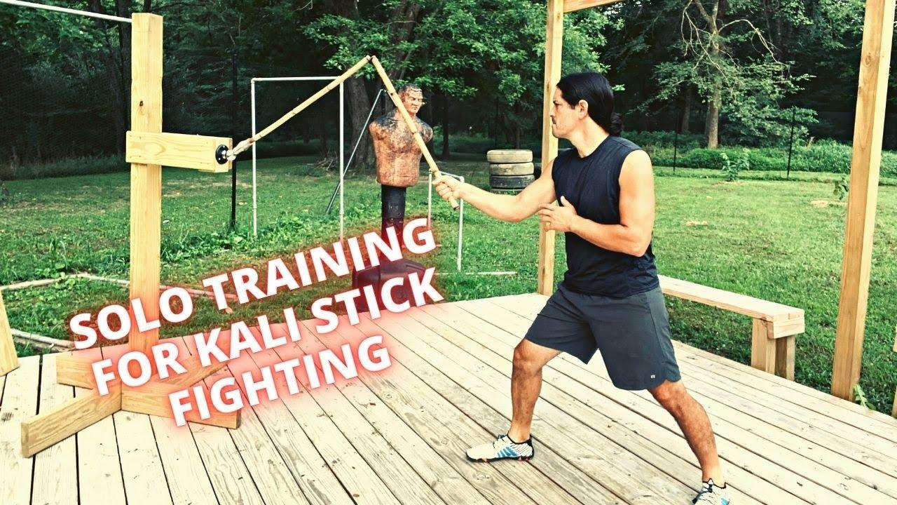 AMAZING KALI STICK FIGHTING SOLO TRAINING   Filipino Martial Arts Arnis Escrima Sticks