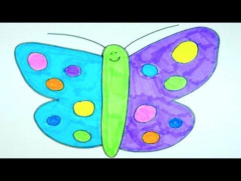 Simple Butterfly Drawings Kids