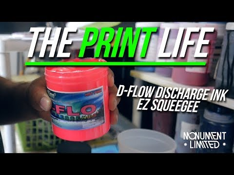 Review of the CCI Dflow Discharge Screen Printing Ink  and The EZ Squeegee.