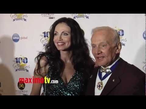 "Buzz Aldrin and Date at ""Night of 100 Stars"" 2013 Oscar Viewing Gala ARRIVALS"