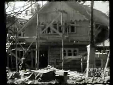 Building A House In Brooklin Maine 1937 Youtube