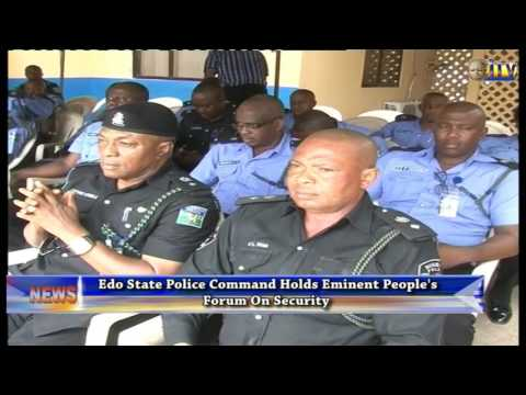 Edo State Police Command Holds Eminent People's Forum On Security