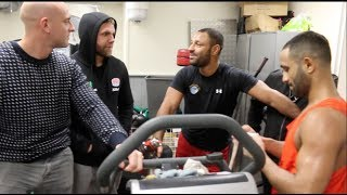 I'LL VOTE FOR KHAN TO EAT KANGAROO TESTICLES! -KELL BROOK w/ BJ SAUNDERS, KID GALAHAD, GREG MARRIOTT