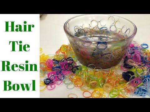 Resin Hair Tie Bowl // Turning a Resin Bowl