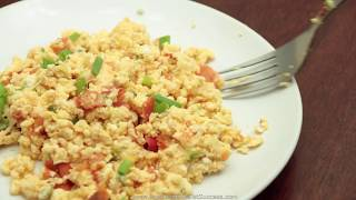 Mexican Scrambled Eggs Low Carb Ketogenic Diet Recipe