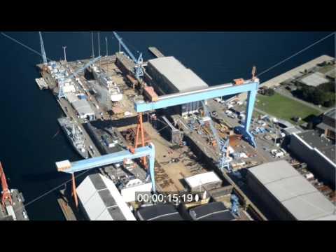 Werftgelände der Howaldtswerke-Deutsche Werft GmbH ( HDW ) in Kiel