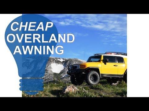 diy off road awning overland awning diy youtube
