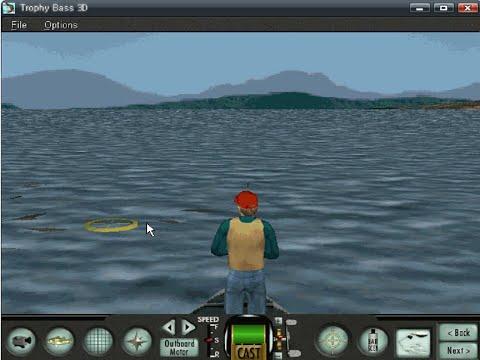 Old Windows Game - Sierra Trophy Bass 3D (1999)