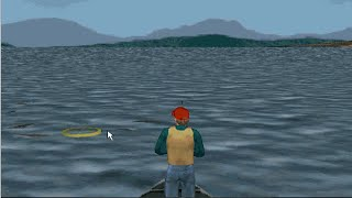Old Windows game - Sierra Trophy Bass 3D (1999)