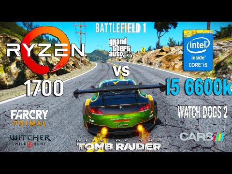 Ryzen 7 1700 vs i5 6600k Test in 7 Games (GTX 1060)
