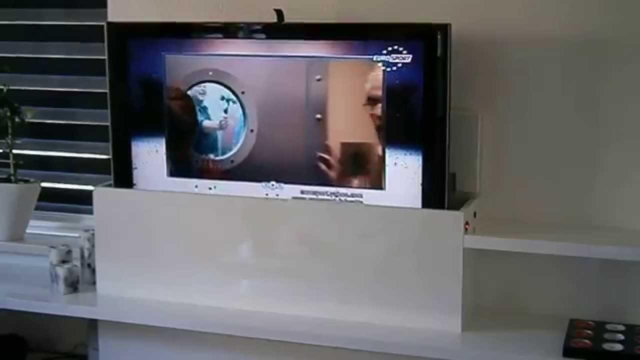TV-Meubel met lift geschikt voor uw LCD/LED/Plasma tv - YouTube