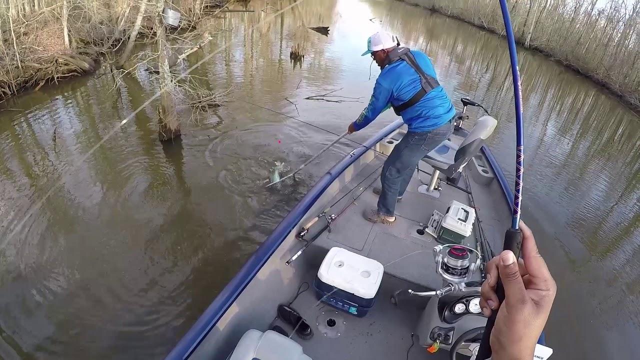 lake verret fishing map Lake Verret Bay Natchez Spawn Crappie Fishing 2 18 2018 Youtube lake verret fishing map