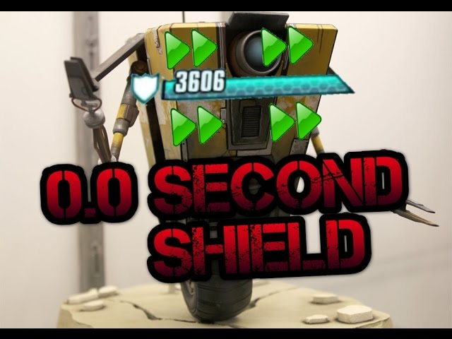 Constantly Recharging Shield/0.0 Second Delay [Borderlands 1.5]
