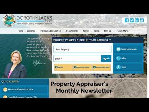 PBC Property Appraiser's Office - PAPA Website Redesign - E-Address Change
