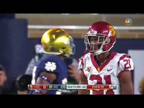 USC Football  Notre Dame 49, USC 14   Highlights 10:21:17