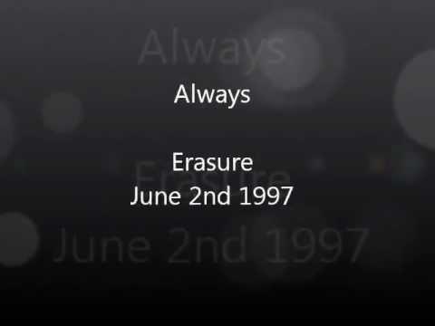 Erasure - Always, Acoustic Live Sound 6/2/1997 with Lyrics