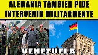 Alemania se une a USA y pide intervención militar a Venezuela