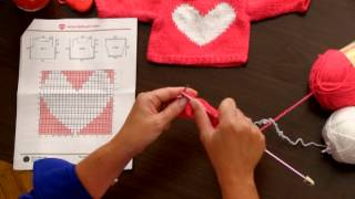 Learn To Knit The Love My Doll Sweater Using Shimmer Yarn By Red Heart