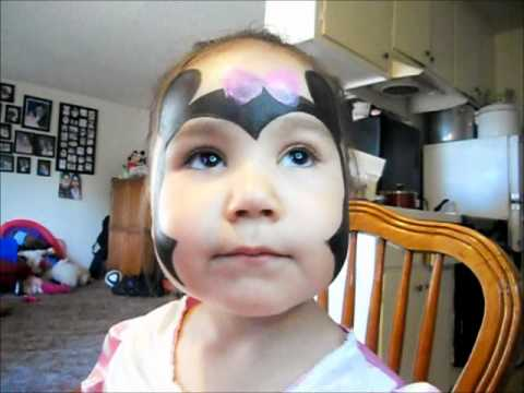 MINNIE MOUSE FACE PAINTING TUTORIAL - YouTube