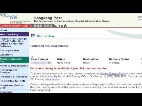 Rastreamento de pedidos com final HK