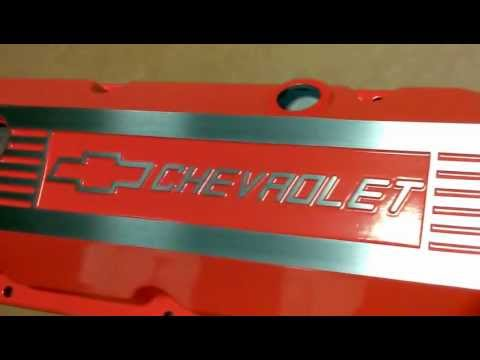 Powder Coated Chevy Valve Cover