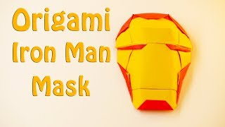 🔴Origami Iron Man Mask🔴 - How to make a paper Iron Man Mask (15 Minutes)