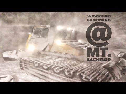 Grooming at Mt. Bachelor // Epic Snowstorm