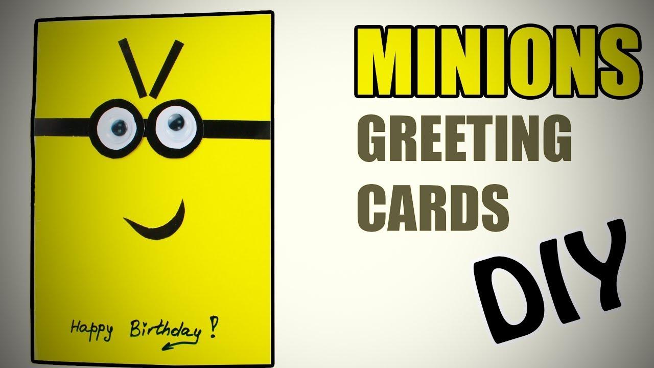 Diy Minions Greetings Card Cute And Easy Greeting Card Life Hacks