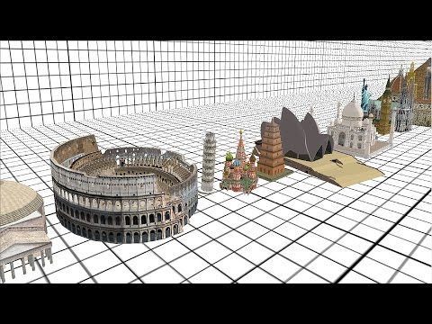 Architecture Size Comparison 3D