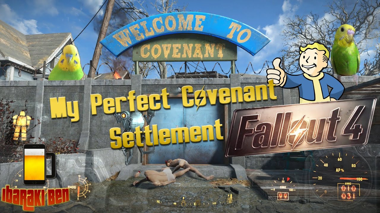 Fallout 4 perfect covenant settlement youtube for Fallout 4 bedroom ideas