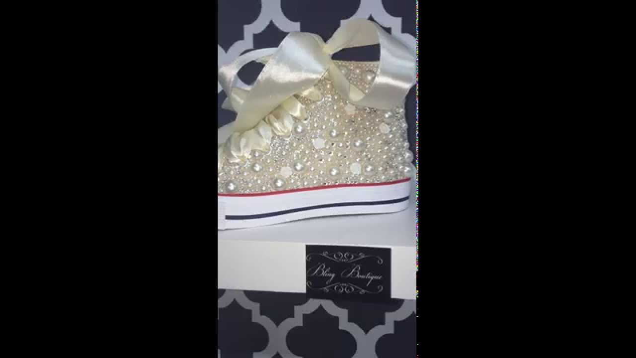 Pearl Converse. Bling Boutique 9c620a807