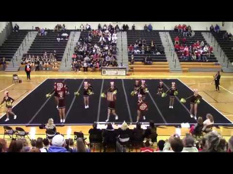 Poquoson High School at 2A South Region Cheer Competition 2017