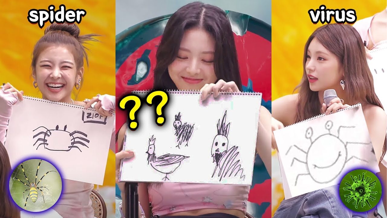 ITZY roasting each other with their drawings