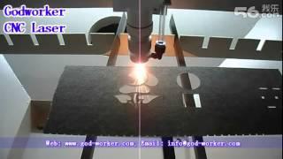 100W laser machine cutting fiberglass -- Godworker CNC Laser