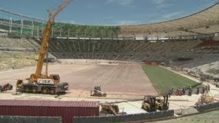 Maracana Stadium gets turfed out