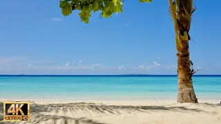 Maldives relaxation 4k video with soothing guitar music 2 hours | Maldives virtual travel 2021