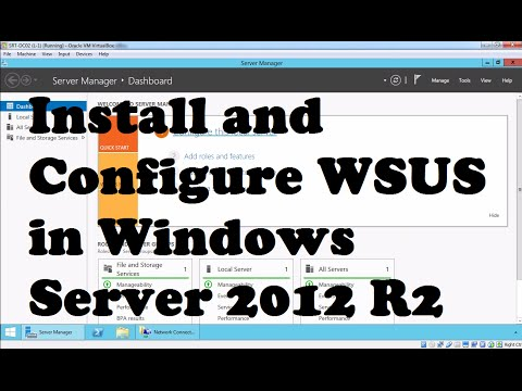 Install And Configure WSUS In Windows Server 2012 R2